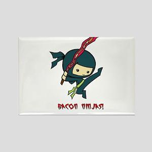 Bacon Ninjas Rectangle Magnet