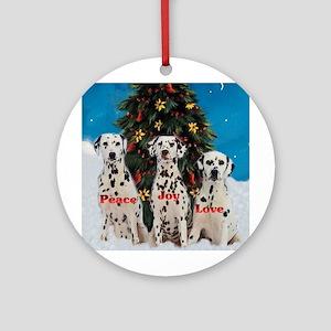 Dalmatian Christmas Ornament (Round)
