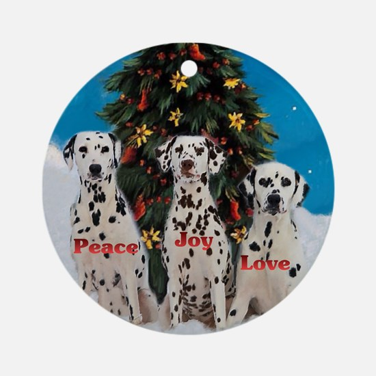 Dalmatian Christmas Ornament (Round)