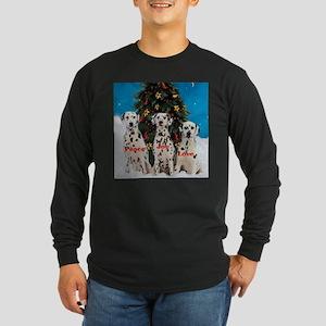 Dalmatian Christmas Long Sleeve Dark T-Shirt