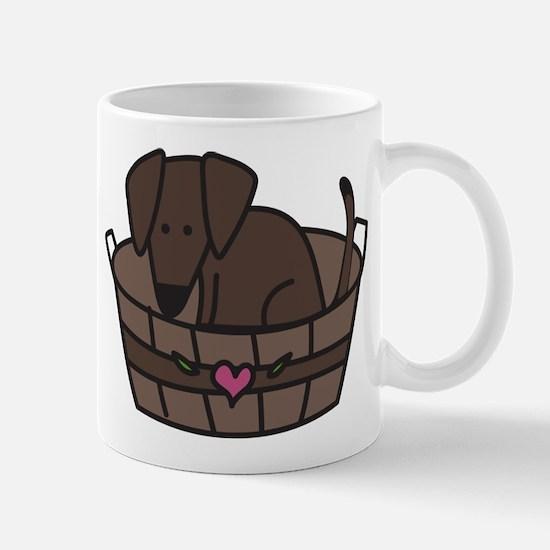 Dog In Basket Mug