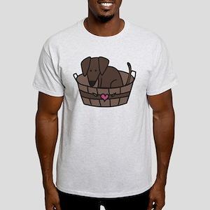 Dog In Basket Light T-Shirt