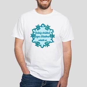Gaelic White T-shirt (to 4X)
