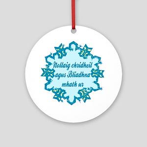 Gaelic Ceramic Ornament
