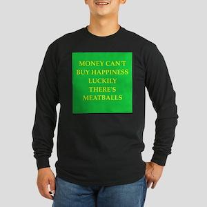 meatballs Long Sleeve Dark T-Shirt