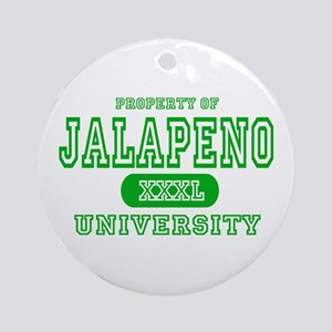 Jalapeno University Pepper Ornament (Round)
