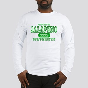 Jalapeno University Pepper Long Sleeve T-Shirt