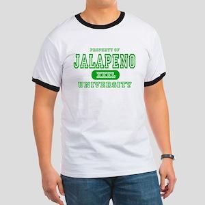 Jalapeno University Pepper Ringer T