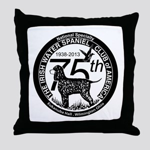 IWSCA 75th Anniversary logo in Black & White Throw