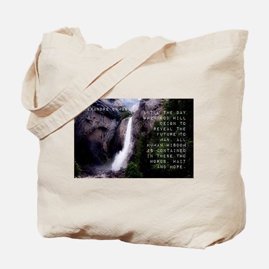 Until The Day When God - Alexandre Dumas Tote Bag