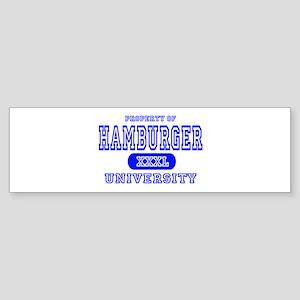 Hamburger University Bumper Sticker