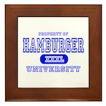 Hamburger University Framed Tile