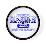Hamburger University Wall Clock