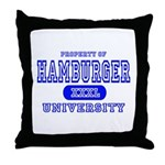 Hamburger University Throw Pillow