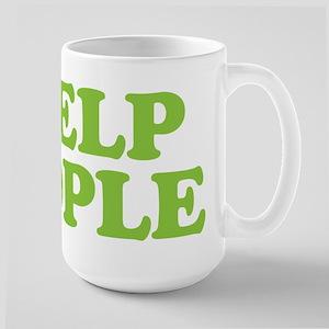 I Help People Large Mug