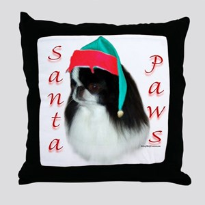 Santa Paws Japanese Chin Throw Pillow
