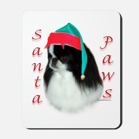 Santa Paws Japanese Chin Mousepad