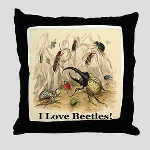 I Love Beetles Remastered Throw Pillow