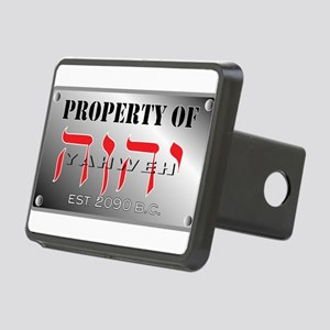 property of YHWH Rectangular Hitch Cover