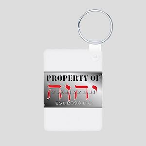 property of YHWH Aluminum Photo Keychain