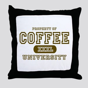 Coffee University Throw Pillow