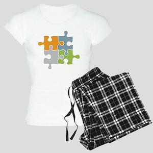 Team Work Puzzle Women's Light Pajamas