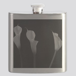 Black and White Lilies Flask