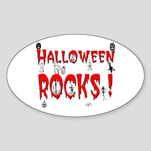 Halloween Rocks ! Oval Sticker