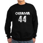 Vintage grunge white Obama 44 Sweatshirt (dark