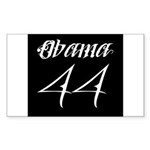 Tattoo white Obama 44 Sticker (Rectangle 10 pk