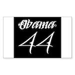 Tattoo white Obama 44 Sticker (Rectangle)