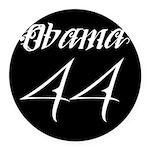 Tattoo white Obama 44 Round Car Magnet