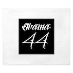 Tattoo white Obama 44 King Duvet