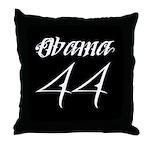 Tattoo white Obama 44 Throw Pillow