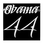 Tattoo white Obama 44 Tile Coaster