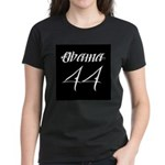 Tattoo white Obama 44 Women's Dark T-Shirt
