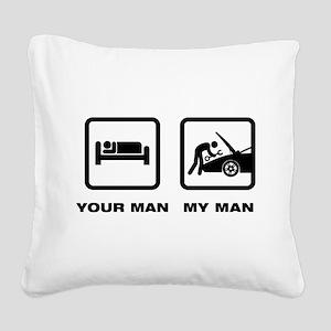 Mechanic Square Canvas Pillow