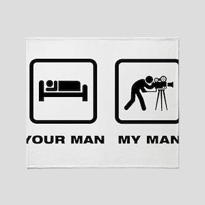 Cameraman Throw Blanket