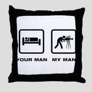 Cameraman Throw Pillow