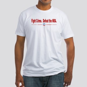 Fight Crime, Defeat the NRA Fitted T-Shirt