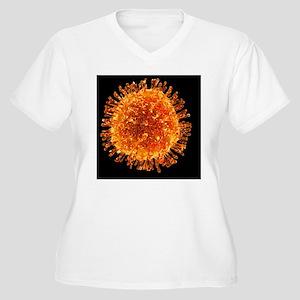 H1N1 flu virus particle, artwork - Women's Plus Si