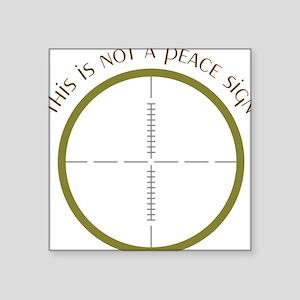 """Peace Sign Square Sticker 3"""" x 3"""""""