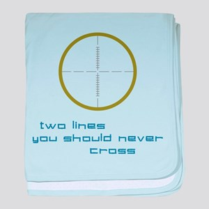 Two Lines baby blanket
