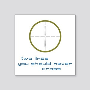 """Two Lines Square Sticker 3"""" x 3"""""""
