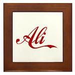 Ali name Framed Tile