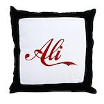 Ali name Throw Pillow