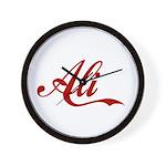 Ali name Wall Clock