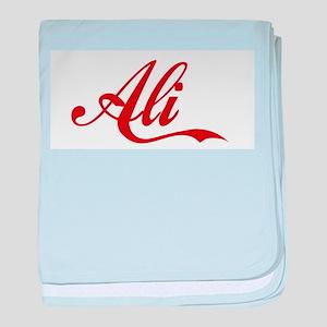 Ali name baby blanket