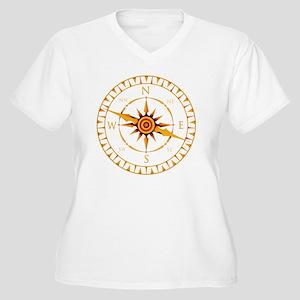 Compass rose - Women's Plus Size V-Neck T-Shirt