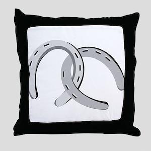 Horseshoes Throw Pillow